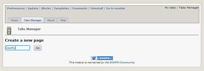 Operating Instructions - XOOPS Modules